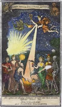 From Johann Heinrich Cohausen Lumen Novum Phosphoris Accensum, Alchemical And Hermetic Emblems 2