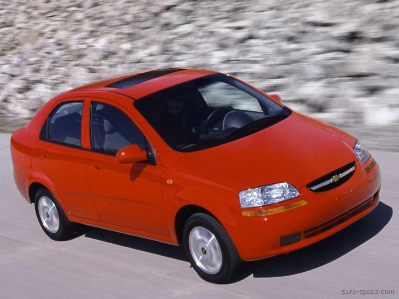 2005 chevrolet aveo sedan specifications pictures prices. Black Bedroom Furniture Sets. Home Design Ideas