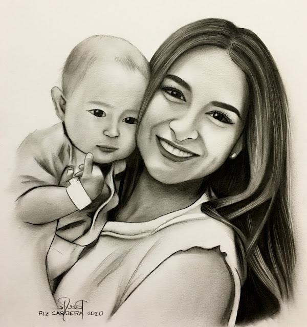Marian and Baby by Riz Cabrera