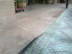 Block and Flamed stone pave