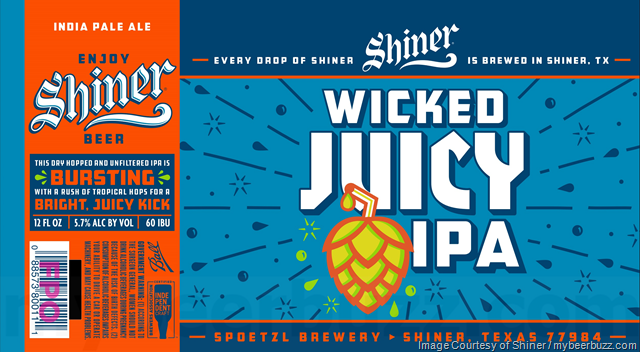 Shiner Adding Wicked Juicy IPA 19.2oz Cans