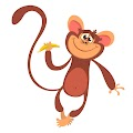 Cartoon Funny Monkey Cool Free Download Vector CDR, AI, EPS and PNG Formats
