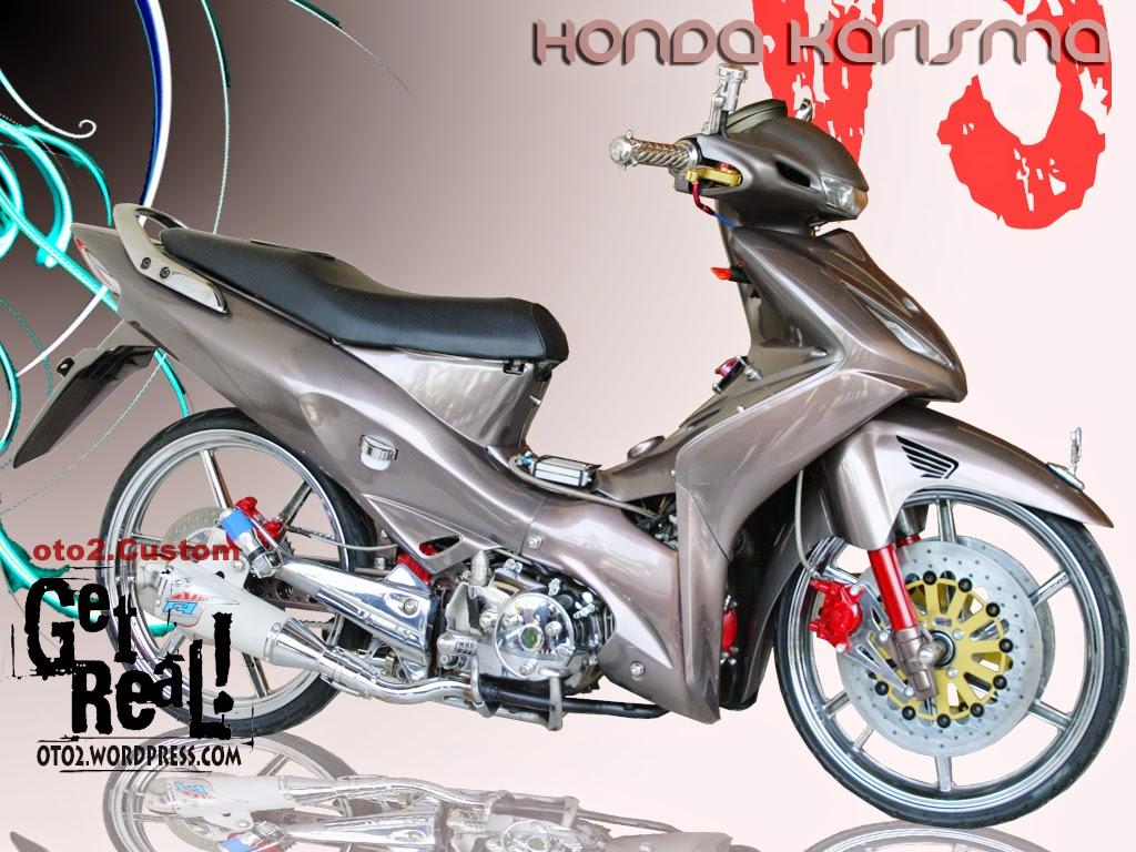 Motor Honda Kharisma Modifikasi