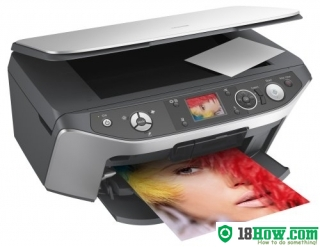 How to reset flashing lights for Epson RX560 printer