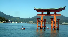 (this is the third most important Shinto shrine in Nippon, the entire island used to be no-Commoners-allowed, and even today nobody is allowed to birth or die on it) ...and yet, here we have Kawasaki Wave Runners