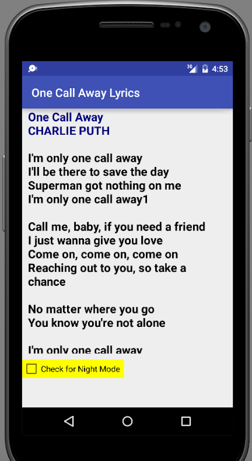 Piano piano chords of one call away : One Call Away Lyrics - Android Apps on Google Play