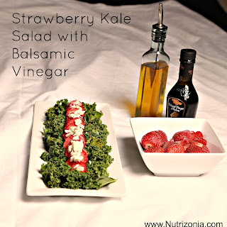 Strawberry Kale Salad with Balsamic Vinegar