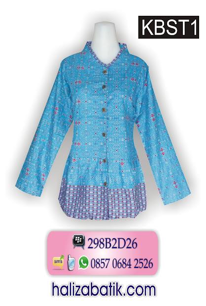 model baju batik modern, motif batik pekalongan, baju wanita terbaru