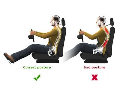 tư thế lái xe tải chống đau lưng