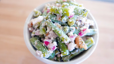 Green Beans with Walnut and Feta and Mint Vinaigrette