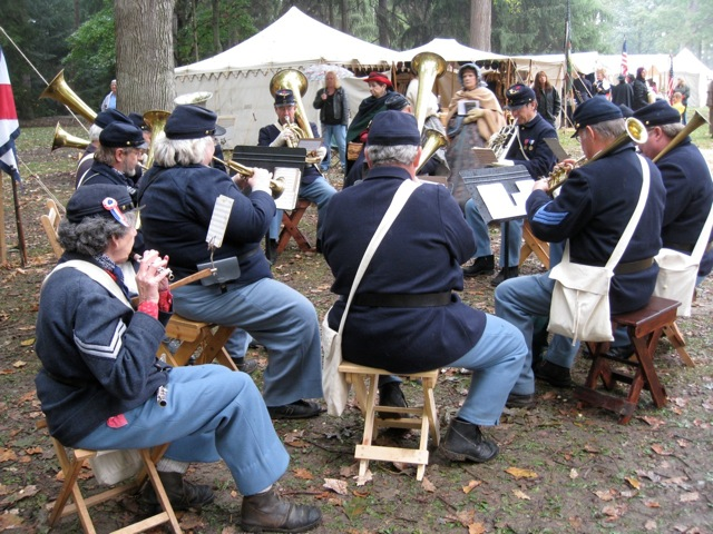 5th MI plays in Sutler's Row at Spiegel Grove
