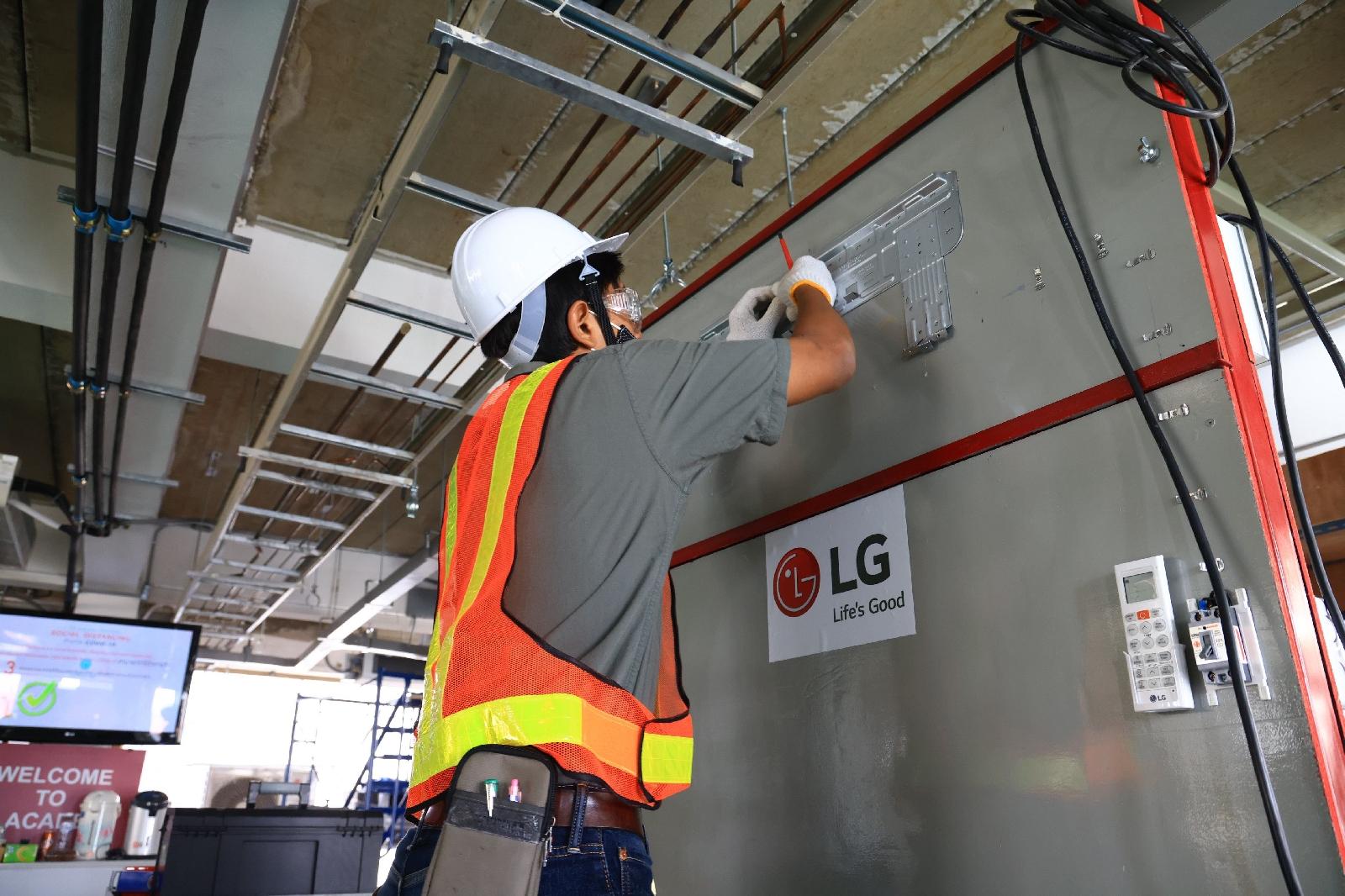 LG มุ่งฟื้นฟูอุตสาหกรรมเครื่องปรับอากาศไทย จัดตั้งศูนย์ทดสอบมาตรฐานฝีมือแรงงาน ผลักดันศักยภาพช่างติดตั้งระดับสากล