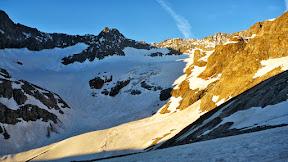 Glacier du Sélé au lever