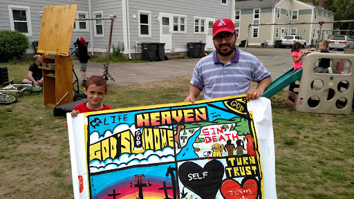 So sweet, this boy wanted to keep my painting!