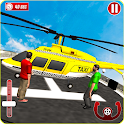 Helicopter Tourist Taxi Simulator- Taxi Games 2019 icon