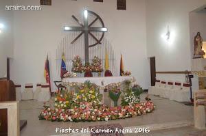 Altar de la Iglesia Nuestra Señora del Carmen, Araira 2016
