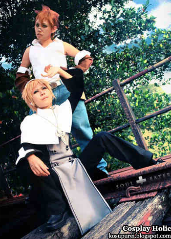 soul eater cosplay - justin law and giriko