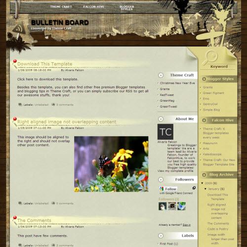 Bulletin Board,blogger,Templates for blogger