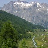 Alp da Segl (à gauche) et Val Fex, 2000 m (Engadine, Grisons, CH). 14 juillet 2013. Photo : J.-M. Gayman