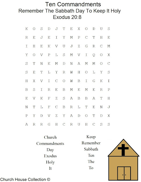This Is Free Printable Ten Mandments Word Find Puzzle For The Fourth  Mandment Description