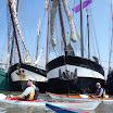 Haven van Nes, de vloot van de Horizon-tour ligt aangemeerd