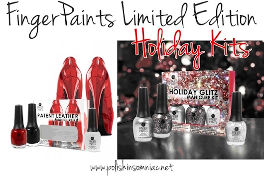 FingerPaints Limited Edition Holiday Sets – Patent Leather Manicure and Holiday Glitz