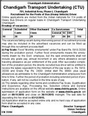 CTU Bus Driver Recruitment 2015 indgovtjobs