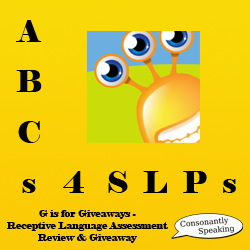 ABCs 4 SLPs: G is for Giveaways - Receptive Language Assessment Review and Giveaway image