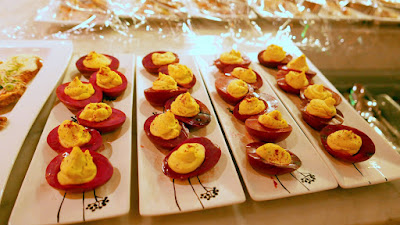 Zakuski at DaNet Russian Pop Up: Stuffed Eggs with beet and sumac