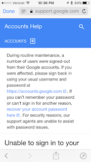 Signed out on mobile device  Redirect link doesn't work - Gmail Help
