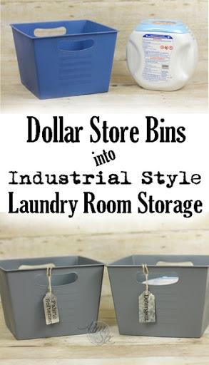 Merveilleux Pretty Laundry Room Storage From Dollar Store Plastic Bins