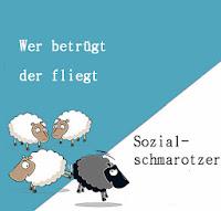 Plakat der SVP Schweiz umgestaltet auf die aktuelle Kampagne der CSU gegen die Ausländer.