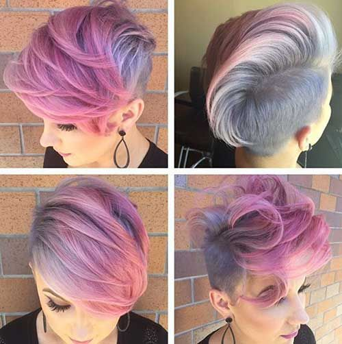 Hair:short hairstyles with different colors for 2018 3