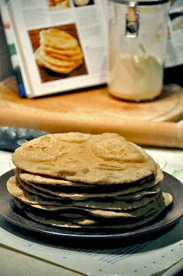 pita bread stack Homemade Wheat Pitas