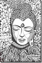 411 Zentangle Buddha