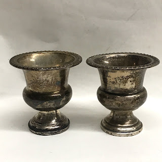 Sterling Toothpick Holder Pair