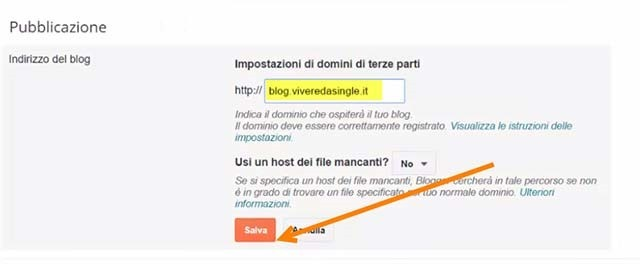 redirect-blogger-sottodominio