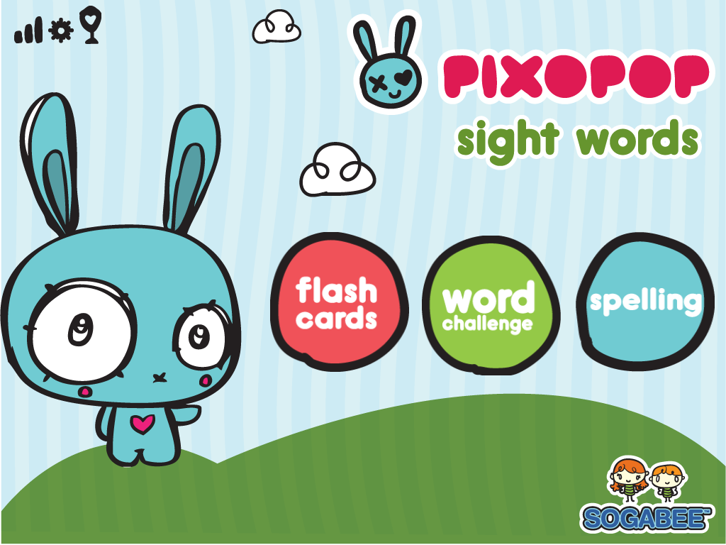 Sight Words & Spelling With Pixopop Main Page