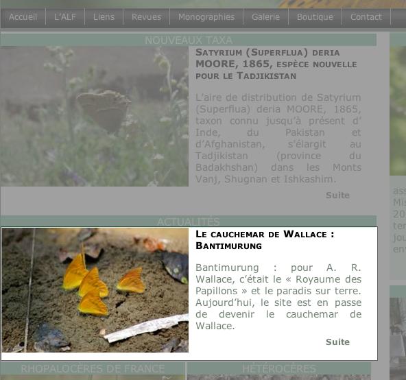 7. Choix d'un article figurant en page d'accueil :  il suffit de cliquer sur le résumé de l'article (ou sur la photo accompagnant ce résumé) ...