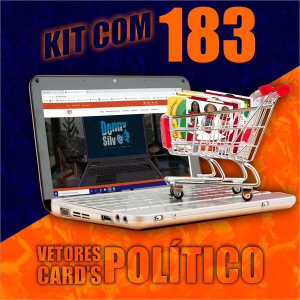 Kit com 183 VETORES card's POLÍTICO