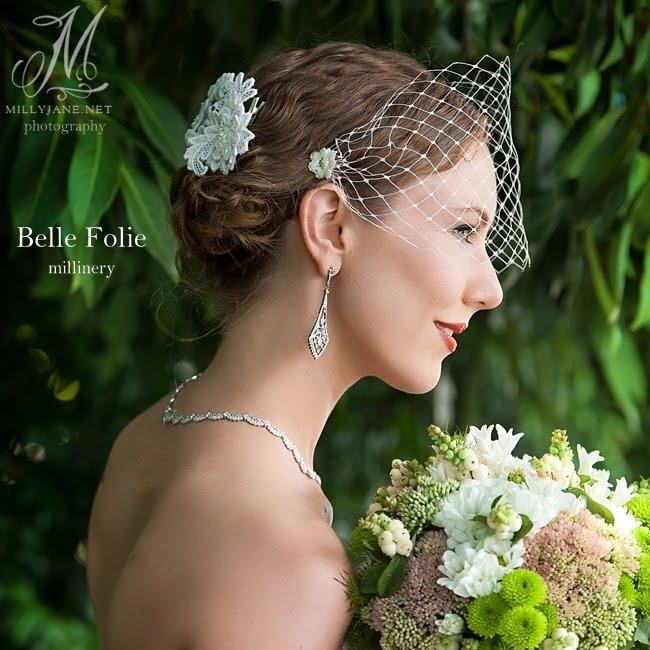 Lace clip and Bobbi veil