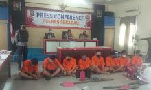 Konferensi Pers, Polres Sekadau Ungkap Sederet Kasus
