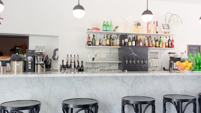 Marmo Deli & Bar, inside center is the bar