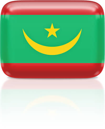 Mauritanian flag clipart rectangular