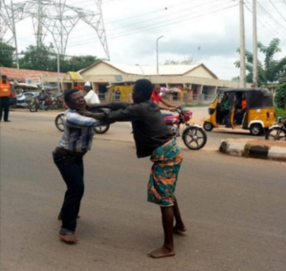 Drama as Mad Man Beats Pastor to Stupor for Insisting on Healing Him in Kogi State (Photos)