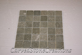 2x2, Flooring, Flooring & Mosaics, Green, Interior, Mosaic, Natural, Quartzite, Stone, Tile, Tumbled