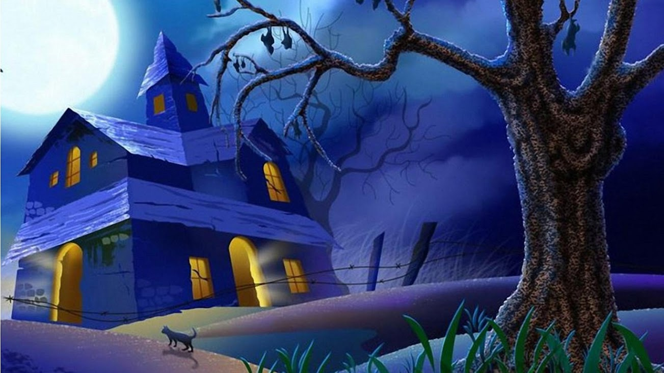 halloween wallpaper 125 1366x768