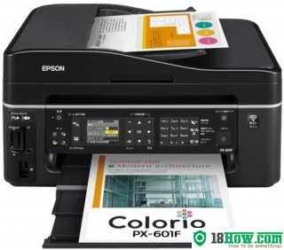 How to Reset Epson PX-601F lazer printer – Reset flashing lights error