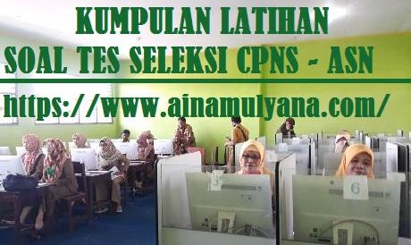 Latihan Soal Tes CPNS (PDF) tahun 2021/2022 dan Pembahasannya