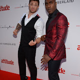 WWW.ENTSIMAGES.COM - Duncan James and Simon Webbe  at  Attitude Magazine's World's Sexiest Men 2013 - summer party Takes place in The Carbon bar. The Cumberland Hotel,  London July 18th 2013                                                   Photo Mobis Photos/OIC 0203 174 1069
